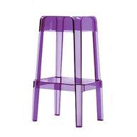 barová židle Rubik ve fialovém transparentním provedení