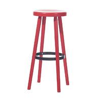 barová židle Solo v červené barvě B80