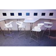 barové židle Ibis v bílé barvě