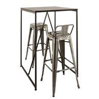 barový stůl s podnoží Factory Bar 80 a židlemi Omer