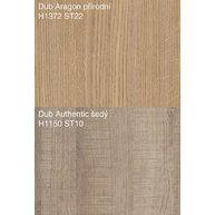 dekory dub Aragon a dub Authentic šedý