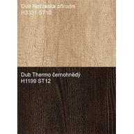 dekory dubů Nebraska a Thermo