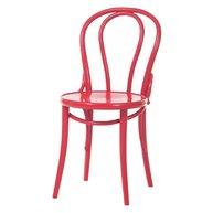 dřevěná židle 018 červená