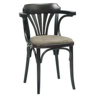 Dřevěná židle 024 a čalouněný sedák