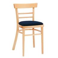 Dřevěná židle 189 s čalouněným sedákem