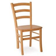 dřevěná židle Pizza se sedákem z masivu