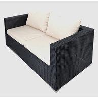 dvojsedačka lounge setu Agathe black 4 ropes / light grey