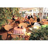kavárna v Riccione