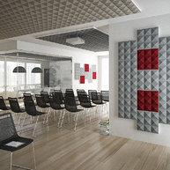 konferenční místnost s akustickými panely STILLY