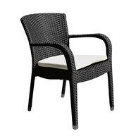 křeslo Cannes black + světle šedý sedák (sedák je v nabídce již pouze v černé barvě)