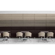 lavice ABACO s vysokými obklady stěny