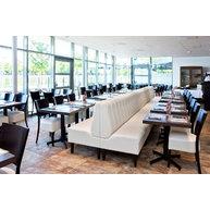 lavice DIVAN 870 s proševem S001 a stoly s podnoží STABLE TABLE
