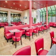 lavice Dublin v restauraci (Brusel)