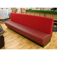 lavice NESSA v oblíbené kombinaci sedák-koženka a opěradlo-látka