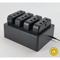 nabíjecí stanice na 4 vysokokapacitní baterie