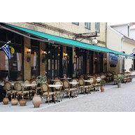podnože StableTable v restauraci Mediterranean, Lund