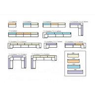 použití nerezových pultů systému Tetris