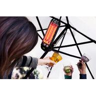 použití zářičů Lucciola na slunečníku