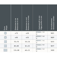 rozměry a průřezy desky Smartline
