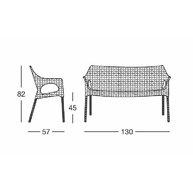 rozměry sofa Olimpo