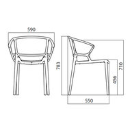 rozměry židle Fiorellina