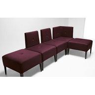 sedací systém PUNTO doplněný židlemi