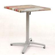 sklopný stůl Verona QSM s deskou 60x60 cm Kbana rouge