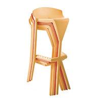 stohováné barové židle Shiver
