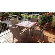 stolová deska 80x80cm Kbana Rouge