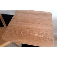 stolová deska masiv DUB s tenkou hranou