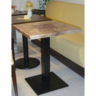 stůl Basic 029Q deska 60c60 SM France Coffee