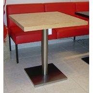 stůl Basic 030QD INOX deska 70x70 lamino 36 mm