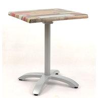 stůl Berlin QSM s deskou 60x60 cm Kbana rouge