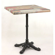 stůl Bistro 4 QSM s deskou Kbana Rouge