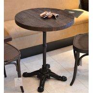 stůl Bistro 4R deska Ø60 masiv dub kartáčovaný tmavé moření