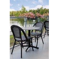 stůl StableTable black se židlemi