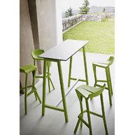 stůl STEP s barovými židlemi Shiver