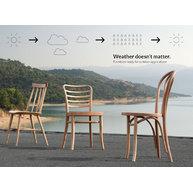 venkovní dřevěné židle s technologií WRB