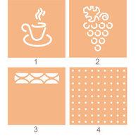 vzory, které mohdou být vyříznuty v opěradle