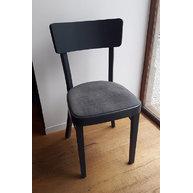židle 488 Ideal s čalouněným sedákem