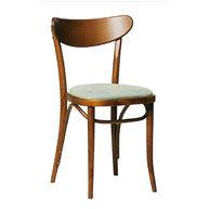 Židle 769 v provedení antik s čalouněným sedákem