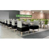 židle a sedací systém PUNTO v restauraci