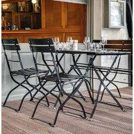 židle arnika a stoly Klasik v černé barvě