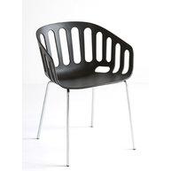 židle Basket s chromovými nohami