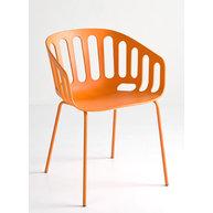 židle Basket v oranžové barvě