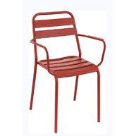židle Bastille F v červené barvě Pimento
