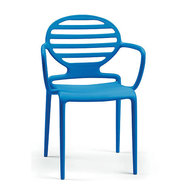 židle Cokka s područkou modrá