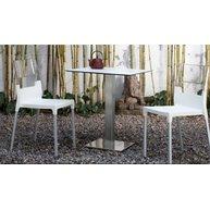 židle Diva bílá + bílá transparentní
