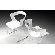 židle Ibis s chromovou a bílou konstrukcí