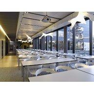 židle Ibis v podnikové jídelně